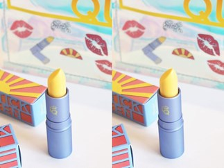 This yellow lipstick changes colour when you apply it