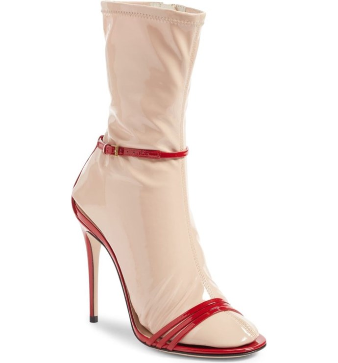 """[Gucci](http://shop.nordstrom.com/s/gucci-ilse-sock-sandal-women/4579187 target=""""_blank"""") went and designed some sock sandals and have literally NFI what possessed them to do so. Oh, and did we mention they cost over $1,600? Yup. Go home fashion, you're drunk."""