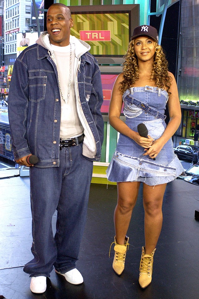 **Jay Z and Beyoncé**  On MTV's *TRL* in November 2002.