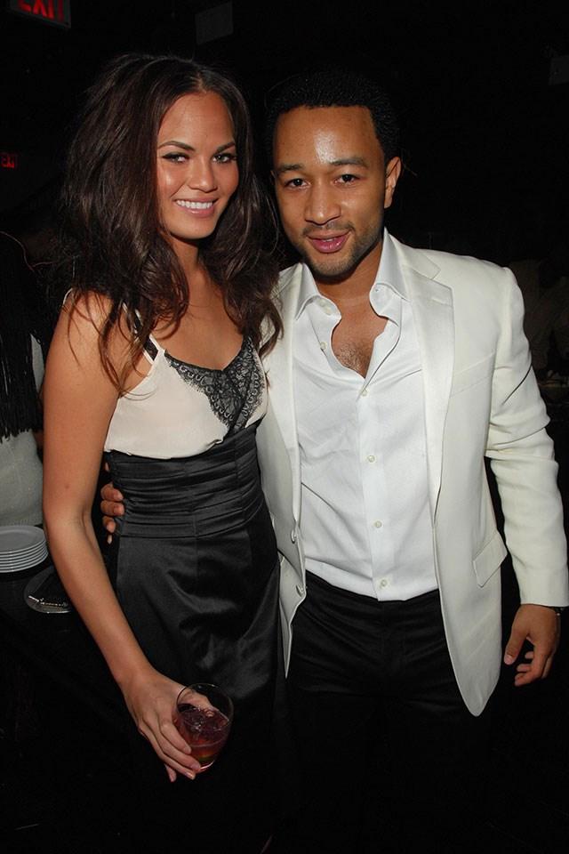 **Chrissy Teigen and John Legend**  At John's birthday party in December 2007.