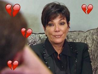 Kris Jenner crying.
