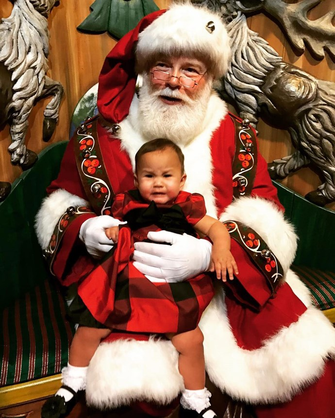 Remember when Chrissy shared this FAIL photo of Luna's visit to Santa?