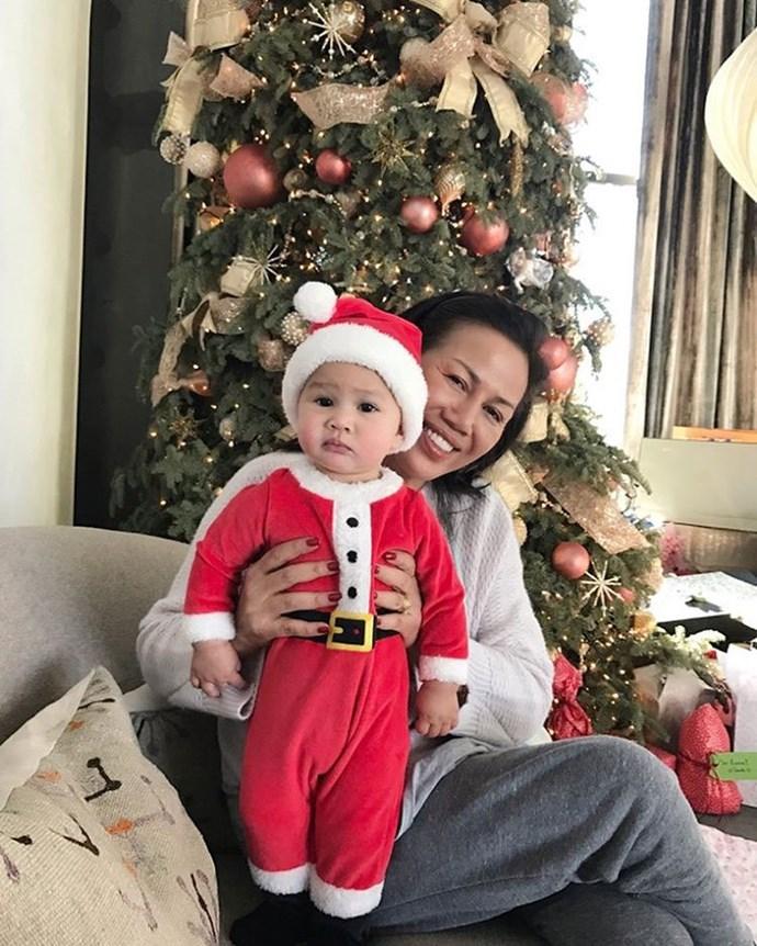 Christmas Luna with her grandma!