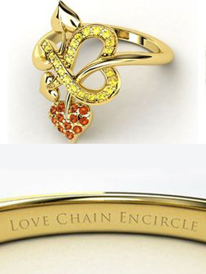 """**Sailor Moon: Sailor Venus**   Customise at [Gemvara](https://www.gemvara.com/jewelry/tattooed-with-love-ring/18k-yellow-gold-ring-with-fire-opal--yellow-sapphire/dp4zs