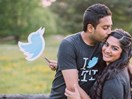 This couple had an incredible Twitter-themed wedding