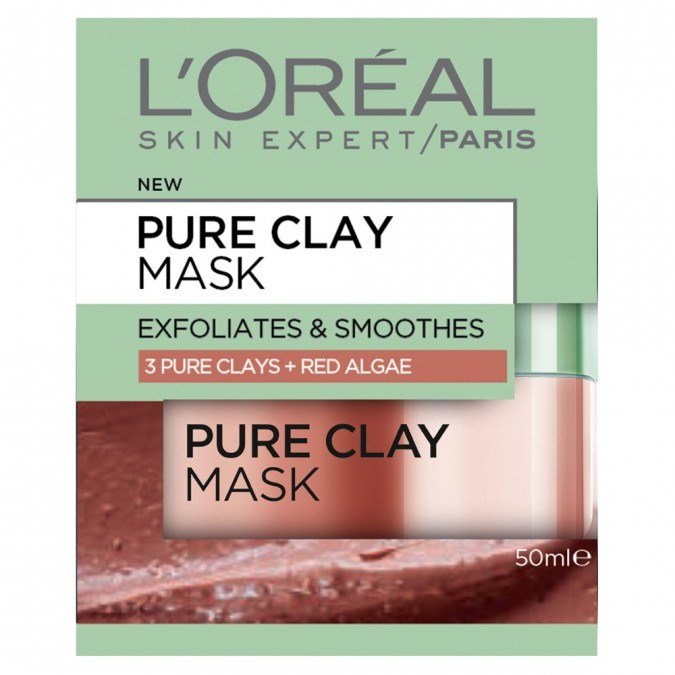 """[L'Oreal Paris Pure Clay Mask: Exfoliating & Smoothing Red Algae](https://www.priceline.com.au/l-oreal-paris-pure-clay-mask-exfoliating-smoothing-red-algae-mask-50-ml