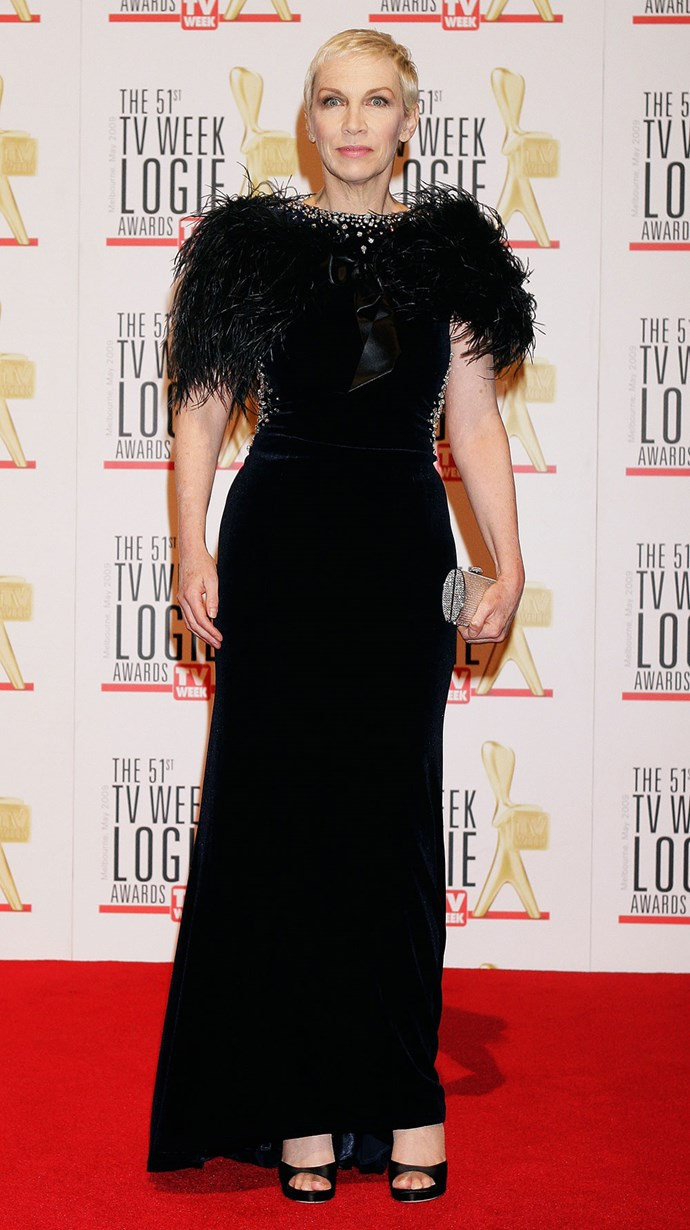 The Logies managed to get music icon **Annie Lennox** in 2009!