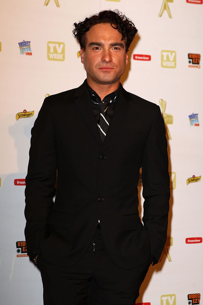 *The Big Bang Theory* star **Johnny Galecki** looked thrilled to be at the Logies in 2010.