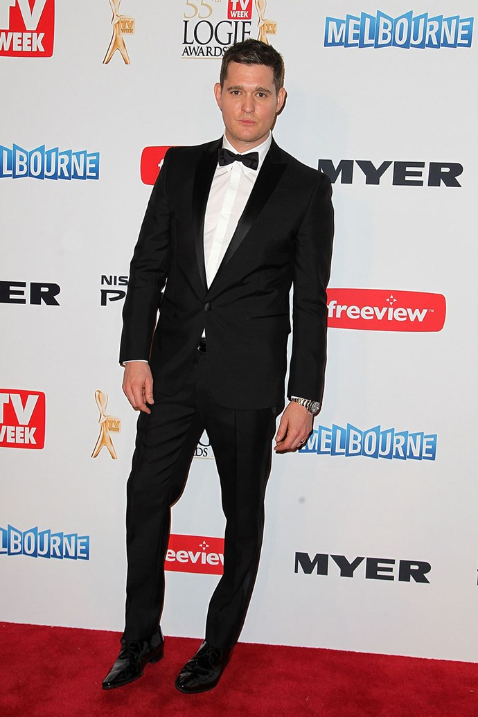 At least you can always count on **Michael Bublé** to dress up for an event like the Logies, which he what he did in 2013.