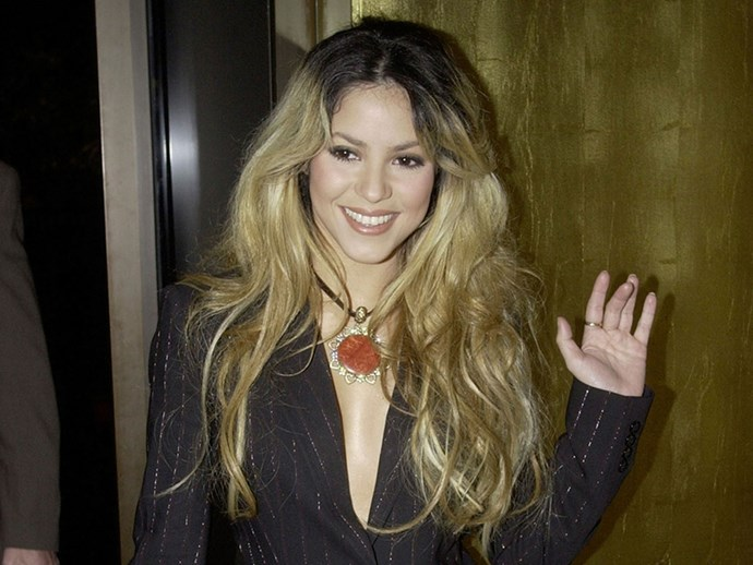 **Ombré**  Shakira *invented* Ombré. Credit where credit's due.   *Shakira, 2002.*
