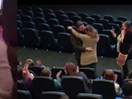 This guy's elaborate proposal at the movies is next level