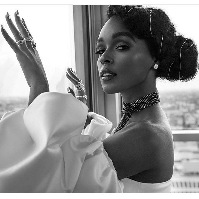 If you're the bride who doesn't want to look like everyone else on your big day, create your own hair accessory with a material (like a delicate wire) that fits your wedding vibe. Janelle Monaé's hairstylist, Nikki Nelms, does this all of the time for her on the red carpet, and her hair always looks incredibly stunning and unique!