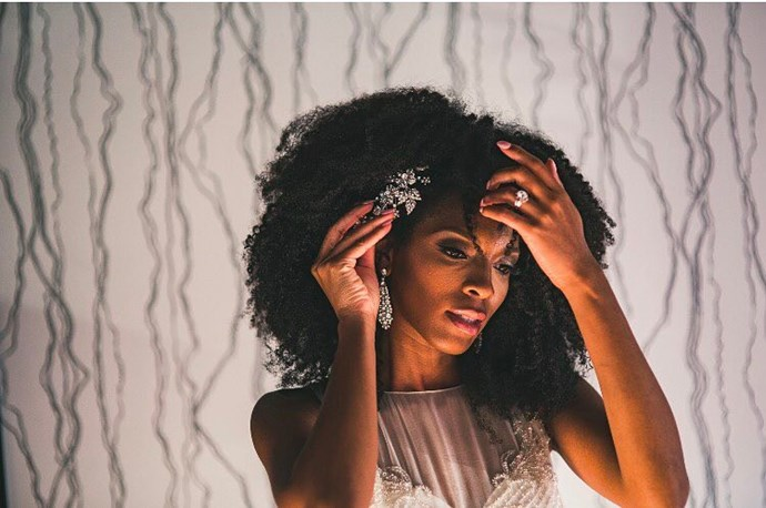 """Need a beautiful hair piece to complete your look? Choose one from Jennifer Behr's bridal collection, and then secure it into place with two bobby pins in an """"X"""" formation for added hold."""