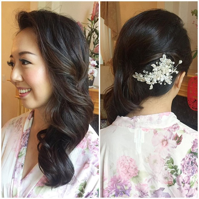 Instead of accentuating the front of your style, place an accessory behind your ear to make those from-the-back photos even more striking.