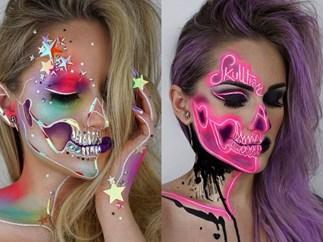 This makeup artist's gorgeous skeleton makeup is so next-level