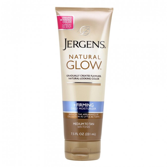 """**4. Jergens Natural Glow Firming Daily Moisturiser, $14.99 at [Priceline](https://www.priceline.com.au/jergens-natural-glow-firming-daily-moisturiser-medium-to-tan-221-ml