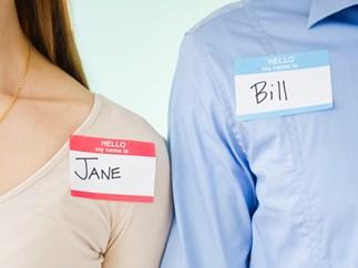 Name tags.
