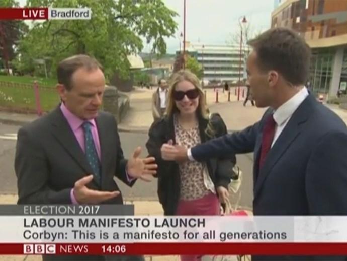 BBC reporter Ben Brown