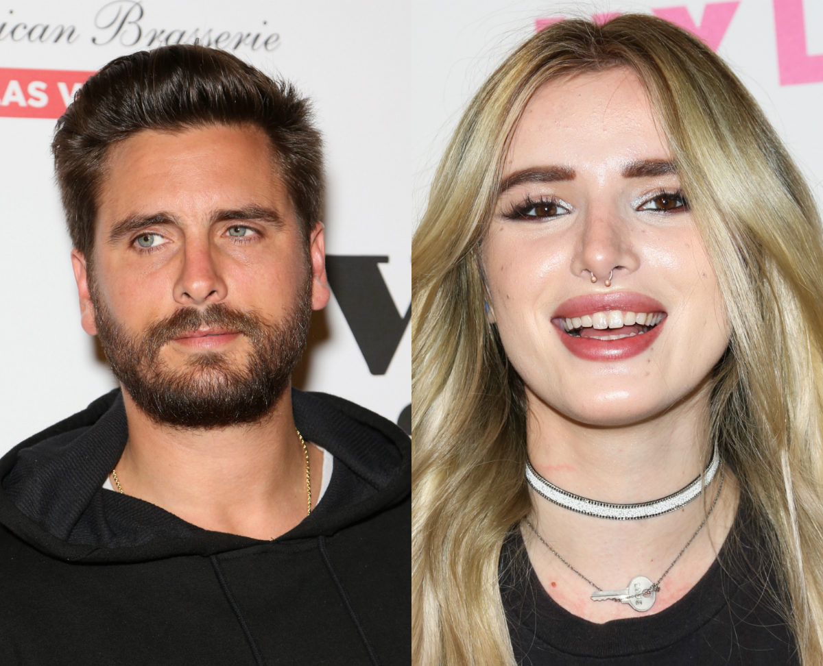 Bella Thorne shows off flowers after Scott Disick date