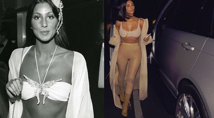 Apparently bras and cardys have always been a trend?