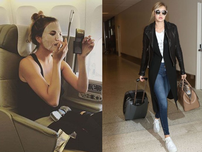 Beauty tips for flights