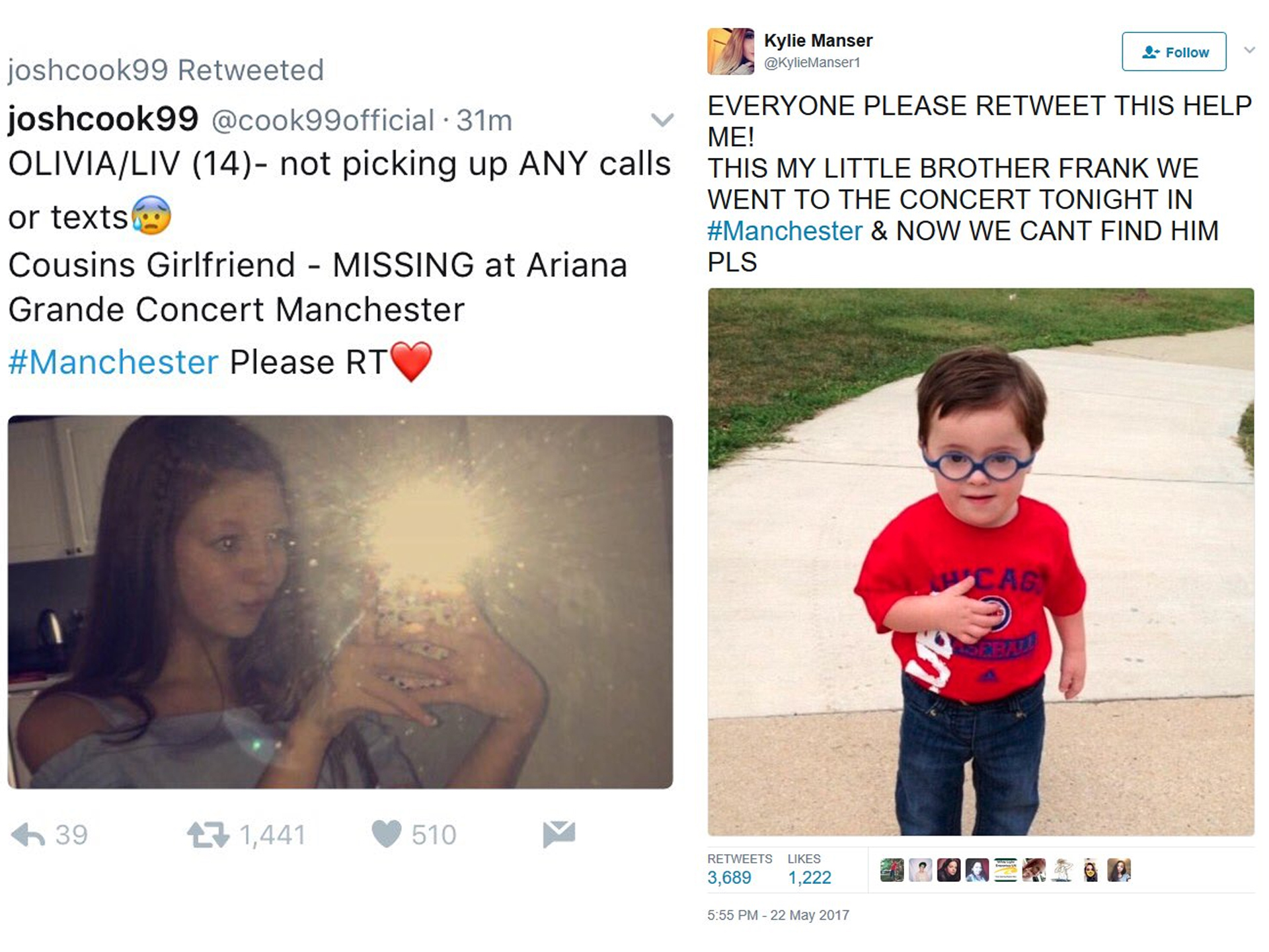 Olivia Campbell, missing Ariana Grande concertgoer in Manchester, has died: mom