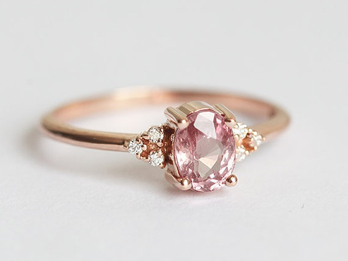 Pink Engagement Rings
