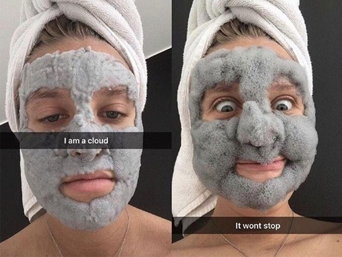 This 'bubble mask' will turn your face into a fluffy cloud