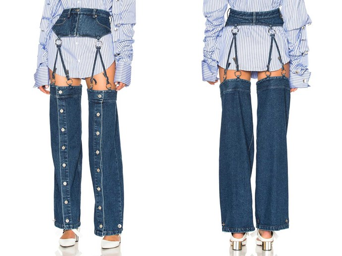 It's officially happened: Someone designed a pair of jeans that are actually missing the crotch area. Why? 'Cause fashion is cooked. Fortunately, for those looking to rep the ~airy~ trend, this style by [Y/Project](http://www.fwrd.com/product-y-project-detachable-button-down-pants-in-washed-blue/YPRF-WJ4/) has already sold out. HOW is beyond us, but oh well, eh? Let's take it as a sign that it was (never) meant to be.