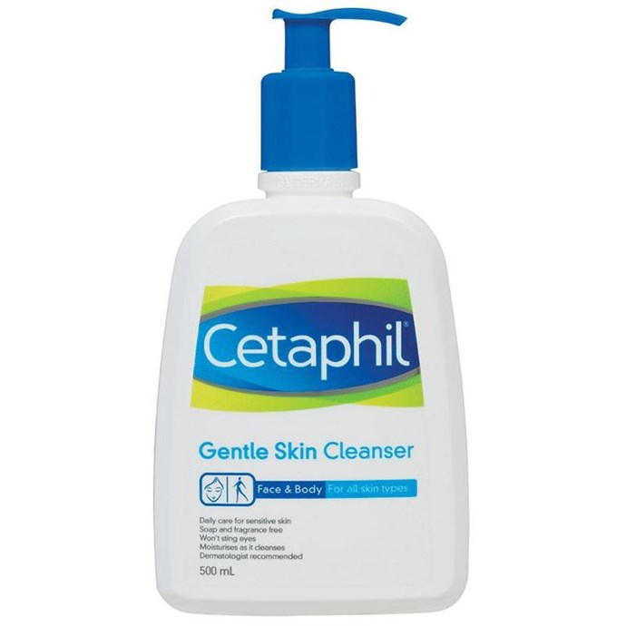 "**Cetaphil Gentle Skin Cleanser, $14.49, at [Chemist Warehouse](http://www.chemistwarehouse.com.au/buy/2153/Cetaphil-Gentle-Skin-Cleanser-500ml|target=""_blank""