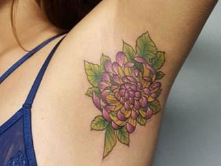 Armpit tattoo trend