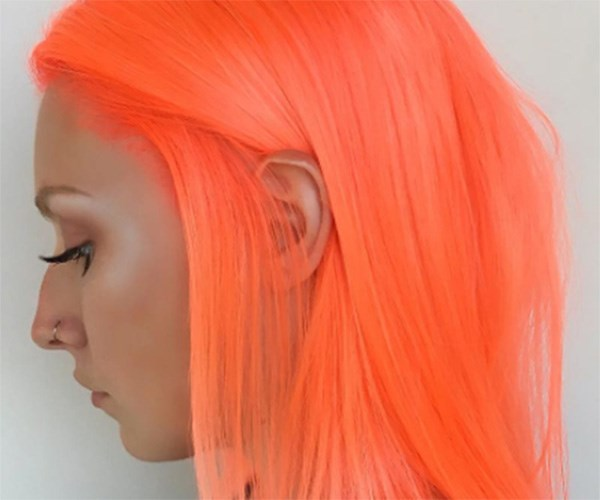 Orange highlighter dye is here to wake up your hair
