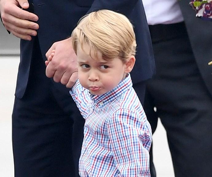 Cheeky Prince George