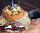 A whole roast dinner in a burger has been invented, and it comes complete with gravy