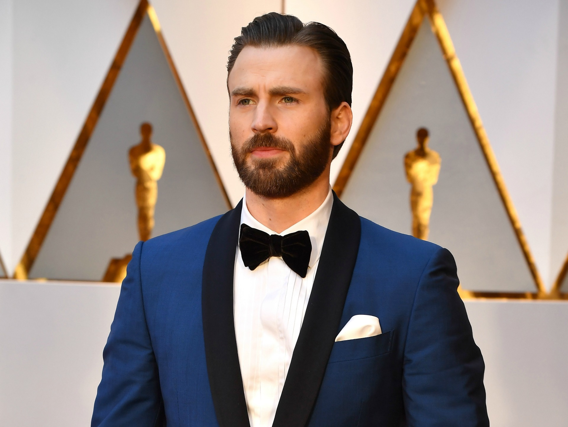 Chris Evans reunited with his dog and the internet loves it