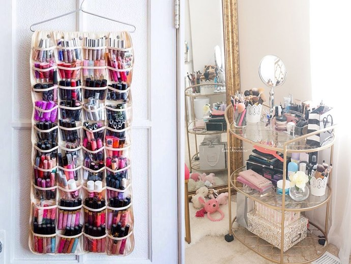 Cute creative ways to store your makeup and beauty tools