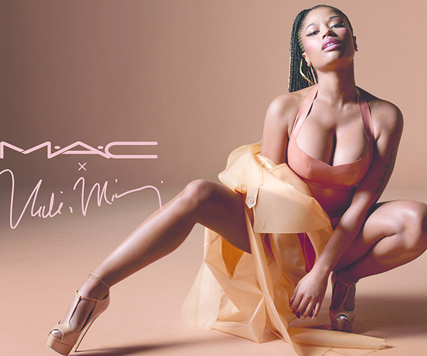 Nicki Minaj gets racy for MAC nude lipstick collaboration