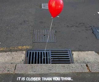 Creepy red balloons are popping up all over Sydney and nope, nope, NOPEEE!