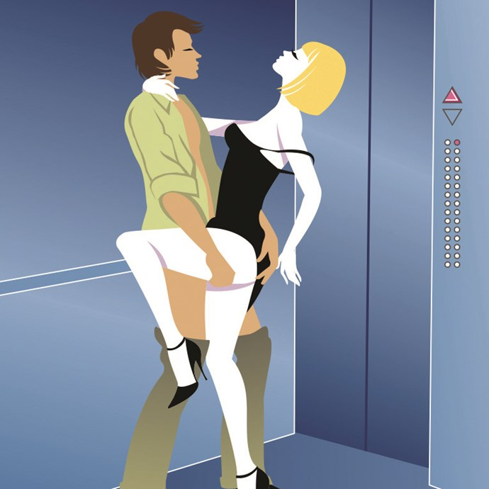 **The Pash And Dash** <br> <br> For a minimal involvement with your new-found lover, where you don't even have to make it to your house — try out this lift position to get it on between floors. Yank his trousers down and hitch up your dress. Push him against the wall and lift one leg up, allowing him inside. Grab their ass, hard, pull them in deep and close. Bonus: When you reach your floor. Thanks. I'll be in touch. Maybe…