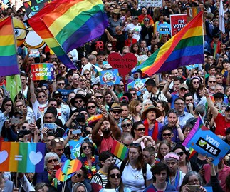 The marriage equality rally in Sydney