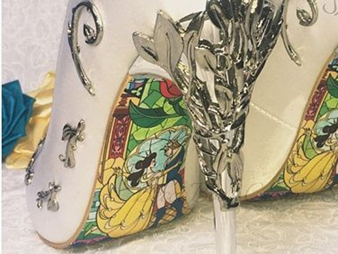 Beauty and the Beast Bridal Shoes