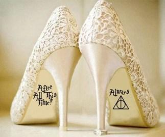 Harry Potter wedding shoe sticker