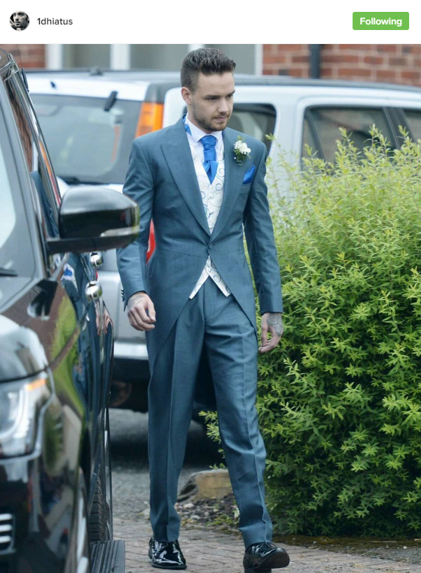 Over the weekend (12-06-16) at his sister Ruth's wedding, Liam looked like an actual Prince. This a colour we'd LOVE to see more of pls.