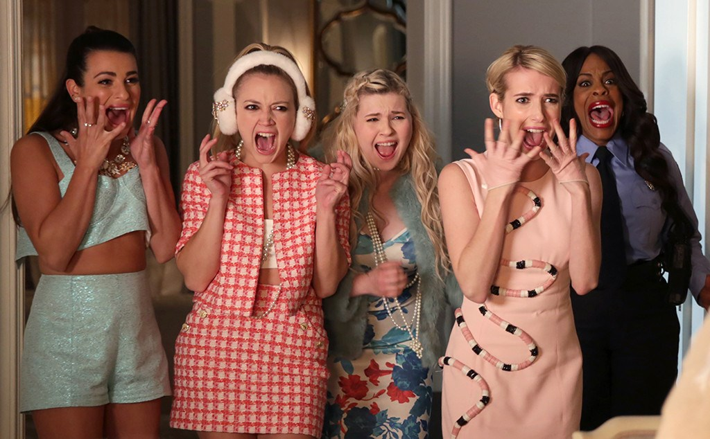 "We FINALLY have an #official air date for *Scream Queens* season 2 so get your TVs ready for September 20th. The new series has been confirmed to take place in a hospital where the gang will be dealing with some ""bizarre medical cases."" Til then, here's everyone who's coming back for a second time, including this brand-new cast member..."