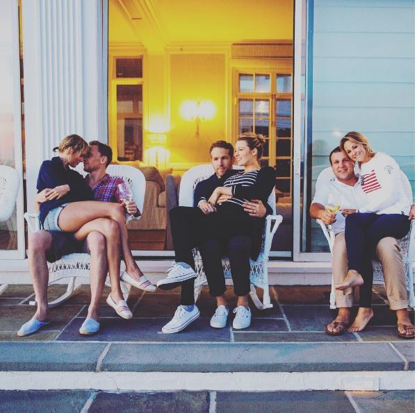 TIDDLESTON have made their ~lurve~ #INSTAOFFICIAL! Still haven't decided if it's major cringe/cute but we do know that's Blake Lively, Ryan Reynolds, Britany and her husband Ben LaManna cuddling up next to them.