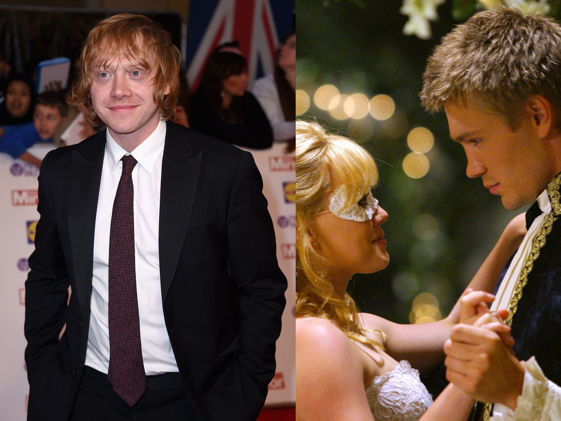 #FACT: 2004's *A Cinderella Story* starring Hilary Duff and Chad Michael Murray is one of the top three greatest movies ever made. Another fun fact; none other than the original red hair, hand-me-down robes-wearing Ron Weasly was THIS CLOSE to taking out the role of Hilary's love interest. Sadly, Rupert Grint (IRL name) had to turn it down for *Prisoner of Azkaban.* Imagine that...