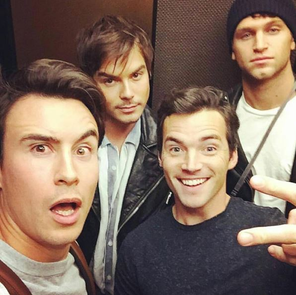 PLL's Caleb aka Tyler Blackburn just posted this SCORCHING HOT photo of himself, Ezra, Dr Rollins (#RIP) and Toby looking hella fly so we thought we'd take a look at the other #SQUAD on the show... bring on the boys!