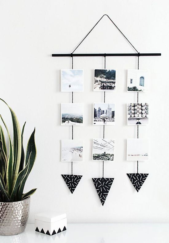 """**Photo mobile** We fangirl HARD over a photo mobile. 'Cos they look pretty as and give ALL the tbt feelzzzz. Via [homeyohmy](http://www.homeyohmy.com/diy-photo-wall-hanging/