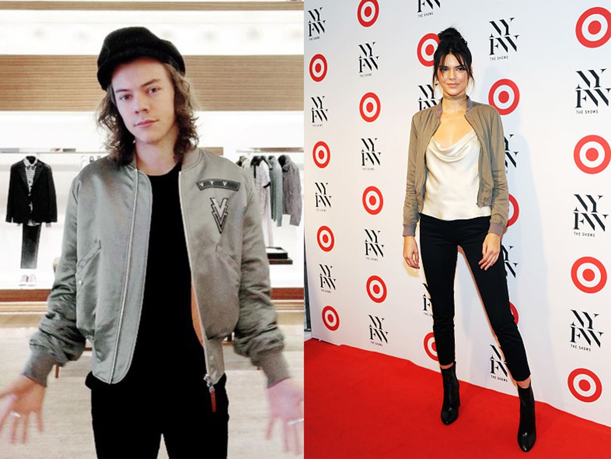Okay, so they may ~not~ be dating, but Hendall sure as heck dress alike... Here we have them rocking a **beige bomber jacket**.