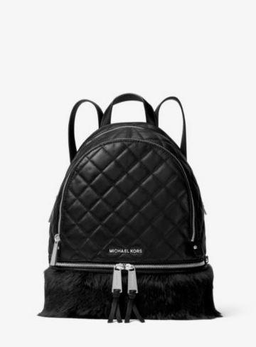 Rhea Medium Quilted-Leather Backpack